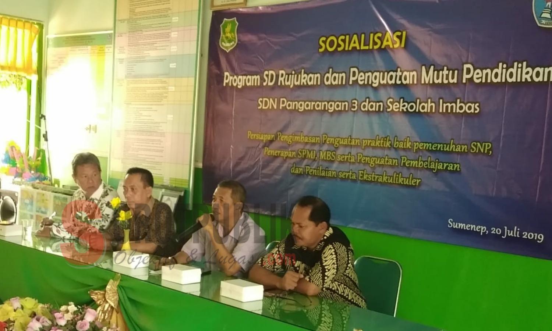 Disdik Sumenep Sosialisasi Program SD Rujukan dan Penguatan Mutu Pendidikan