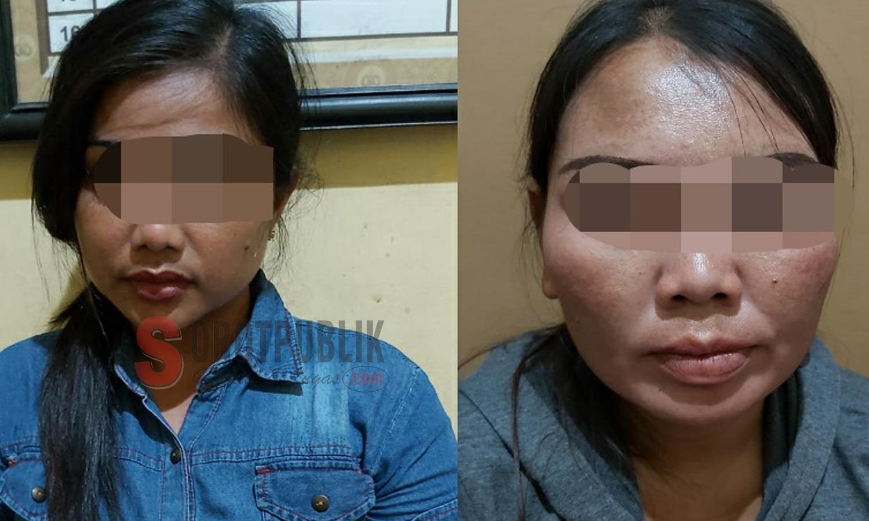 Kedua terduga mucikari yang berasal dari Desa Pamolokan, Kabupaten Sumenep
