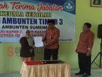 Serah terima jabatan Kepala Sekolah SDN Ambunten Timur III yang di hadiri Kabid Ketenagaan Disdik Sumenep