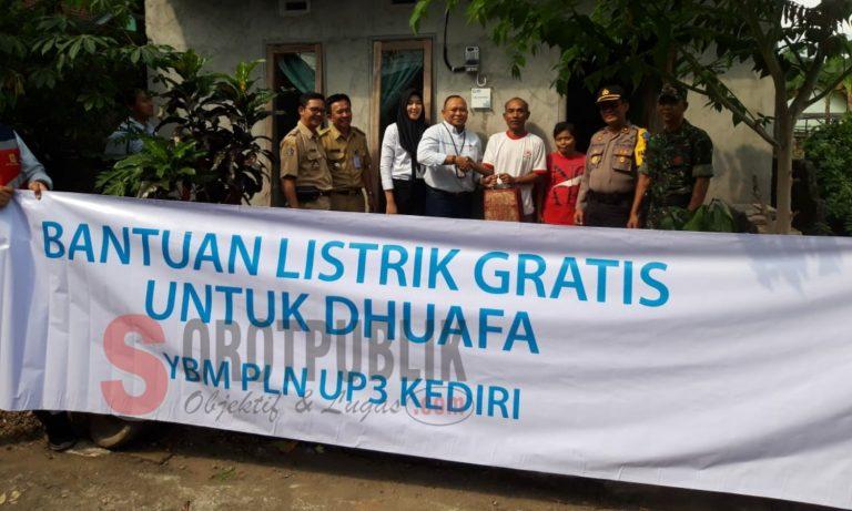 YBM PLN UP3 Kediri Berikan Bantuan Listrik Gratis untuk ...