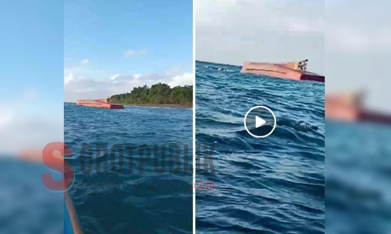 Diduga Kapal Pencari Ikan Ditemukan Warga Buru Terbalik di Perairan Tanjung Kayu Putih