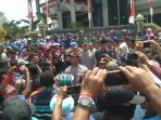 Demonstrasi di Kantor DPRD Jember